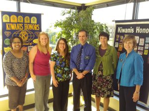 Induction of new officers and directors of Bettendorf Kiwanis Club on October 1, 2013